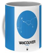 Vancouver Blue Subway Map Coffee Mug