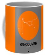 Vancouver Orange Subway Map Coffee Mug