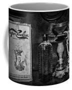 Vapo-cresolene Vaporizer And Bottle Respiratory Remedy Black And White Coffee Mug