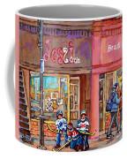 Verdun Montreal Storefront Painting Jessie Et Cie Beaute Candy Nail Shop Hockey Artist C Spandau Art Coffee Mug