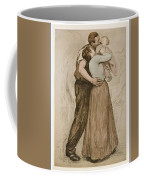 Victor Emile Prouve  French  1858   1943 The Kiss  Le Baiser  1898  Collotype On Wove Paper Coffee Mug