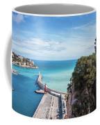 View From Castle Hill To The Sea In Nice Coffee Mug