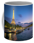 View Of The Eiffel Tower During Sunset From The Scene River Coffee Mug