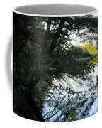 View Of The Lake Through The Branches Coffee Mug