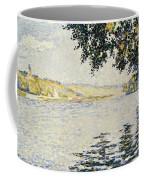 View Of The Seine At Herblay     Coffee Mug