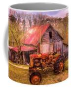 Vintage At The Farm Watercolors Painting Coffee Mug