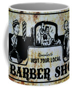 Vintage Barber Sign From The 1950s Coffee Mug