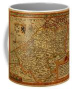 Vintage Map Of Belgium And Flanders Coffee Mug