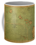 Vintage Map Of Hawaii Coffee Mug