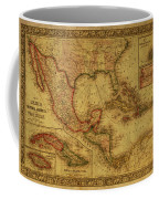 Vintage Map Of Mexico Coffee Mug