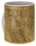 Vintage Map Of Northern California Coffee Mug