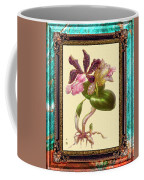 Vintage Orchid Antique Design Marble Caribbean-blue Coffee Mug