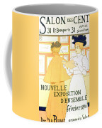 Vintage Poster Advertising A Exhibition At The Salon Des Cent, 1896  Coffee Mug