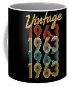 Vintage Retro Since 1963 Birthday Gift Coffee Mug