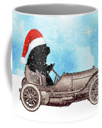 Vintage Santa Newf Holiday Card Coffee Mug