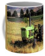 Vintage Tractor In Honeyville Coffee Mug by David King