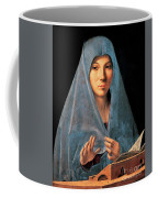 Virgin Of Annunciation Painting By Antonello Di Antonio Dit Antonello Da Messina Coffee Mug