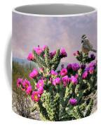 Walking Stick Cactus And Wren Coffee Mug