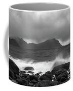 Water Hits The Coastline During Storm Coffee Mug