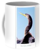 Water Turkey, Anhinga, Animal Portrait Coffee Mug