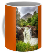 Waterfall Under The Mountain Coffee Mug