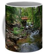 Waterfall With Wooden Bridge Coffee Mug