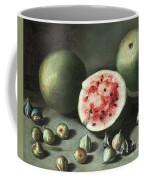Watermelons And Figs On A Stone Ledge  Coffee Mug