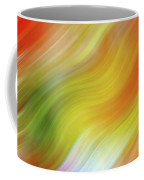 Wavy Colorful Abstract #4 - Yellow Green Orange Coffee Mug by Patti Deters