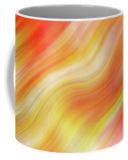 Wavy Colorful Abstract #5 - Yellow Orange Coffee Mug by Patti Deters