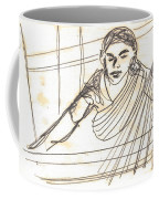 Weaver Working At Her Weaving Machine Coffee Mug