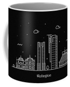 Wellington Skyline Travel Poster Coffee Mug