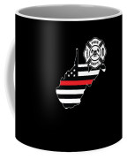 West Virginia Firefighter Shield Thin Red Line Flag Coffee Mug