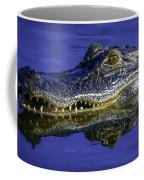 Wetlands Gator Close-up Coffee Mug by Tom Claud