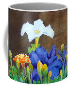 White And Purple Petunia And Marigolds Coffee Mug