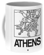 White Map Of Athens Coffee Mug