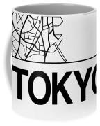 White Map Of Tokyo Coffee Mug