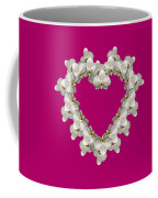 White Orchid Floral Heart Love And Romance Coffee Mug by Rose Santuci-Sofranko