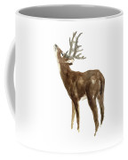White Tailed Deer Stag With Head Tilted Upwards Coffee Mug