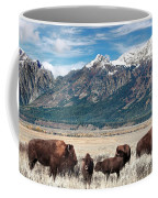 Wild Bison On The Open Range Coffee Mug