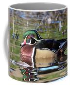 Wild Wood Duck On The Old Mill Pond  Coffee Mug