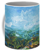 Windy Day In The Grassland. Original Oil Painting Impressionist Landscape. Coffee Mug