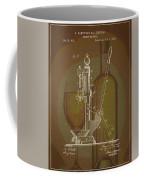 Wine Bottle Corking Patent Coffee Mug