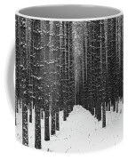 Winter Forest In Black And White Coffee Mug