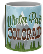Winter Park Colorado Retro Mountains Coffee Mug