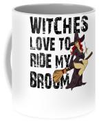 Witch Broom Funny Pun Naughty Halloween For Men Light Coffee Mug
