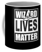 Wizard Lives Matter Retro Halloween Sorcerer Dark Coffee Mug