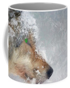 Wolf In The Snowstorm - Painting Coffee Mug