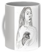 Woman Holding A Hat Coffee Mug