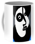 Woman In A Blue Coat Coffee Mug