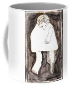 Woman With A Wooden Leg Drawing Coffee Mug